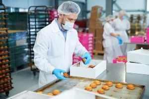 bakery worker wearing protective gear